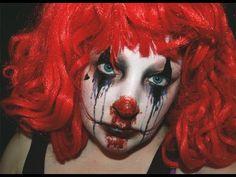 How To: Creepy Halloween Clown Makeup Creepy Halloween Makeup, Creepy Makeup, Halloween Clown, Hallowen Costume, Halloween Looks, Halloween Horror, Halloween 2018, Halloween Ideas, Clown Makeup Tutorial