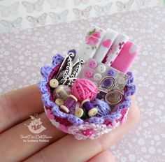 Miniature basket crafts for dolls and doll от SweetMiniDollHouse