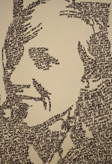 Portrait made of words