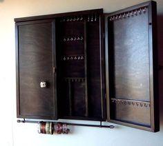 Tall Closet Doors Wall Colors Ideas For 2019 Earring Storage, Jewellery Storage, Jewelry Organization, The Doors, Wall Storage, Locker Storage, Shelf Wall, Mudroom Shelf, Entryway Shelf