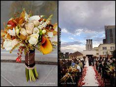 bouquet color scheme for bridesmaids. Don't care for the flowers, just the color idea.