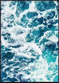 Ocean Blue Water Tropical Posters, Ocean, Clouds, Beach, Water, Blue, Outdoor, Gripe Water, Outdoors