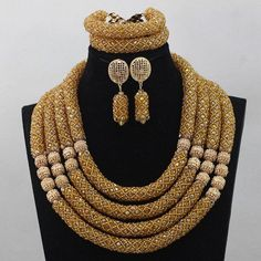African Jewelry Set Big Flower Pendant Engagement Necklace Set (Choose – The Pearline Oyster Shopping Mall Best Jewelry Stores, Jewelry Shop, Jewelry Design, Fashion Jewelry, Designer Jewelry, Fashion Beads, Fashion Fashion, Fashion Accessories, Women Jewelry