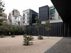 Biblioteca Sant Antoni in Barcelona_by RCR Arquitectes Cc License, Barcelona, Facade, Sidewalk, Contemporary, Landscape, City, Gallery, Safari