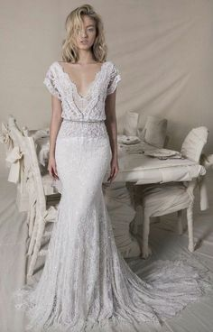 Customized mermaid wedding dress sweep train lace Wedding Dress,Simple White Satin Bridal Dress with Appliques wedding dress is part of Lihi hod wedding dress Customized mermaid wedding dress swee - Perfect Wedding, Dream Wedding, Wedding White, Rustic Wedding, Elegant Wedding, Fall Wedding, Wedding Affordable, The Bride, Applique Wedding Dress