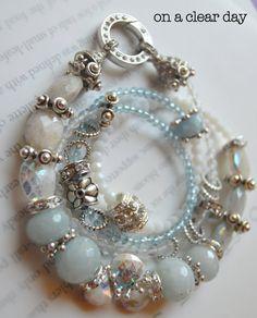ON SALE chunky bracelet, artisan bracelet, cz ring bracelet, peruvian opal…