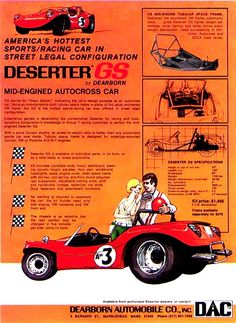 Dearborn Automotive's Deserter GS  --Deserter Dune Buggy Liturature, Sales Brochures, Installation Instructios, Magazine Articles