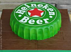 Beer Bottle Cap by Creative Cake Designs Birthday Cakes For Men, Unique Cakes, Creative Cakes, Fondant Cakes, Cupcake Cakes, Cake Cookies, Cap Cake, Novelty Cakes, Occasion Cakes