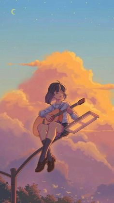 Anime Backgrounds Wallpapers, Anime Scenery Wallpaper, Cute Anime Wallpaper, Cute Cartoon Wallpapers, Animes Wallpapers, Japon Illustration, Cartoon Art Styles, Girl Cartoon, Anime Art Girl