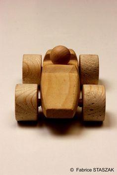Wood toy tace car. Hand made. Voiture de course en bois. #WoodToy #WoodCar…