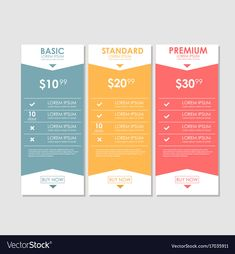 Set offer tariffs ui ux banner for web app Vector Image Design Page, Web Design, Chart Design, Slide Design, Layout Design, Bubble Quotes, Powerpoint Design Templates, Leaflet Design, Pricing Table