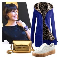 """Gold & animalier"" by stefania-fornoni on Polyvore featuring Marni, Puma, women's clothing, women, female, woman, misses and juniors"