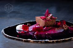 Chocolate Mousse with Pickled baby Beetroot - an unusual taste sensation! The Test Kitchen #Cape Town