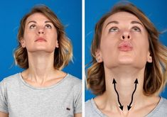 7 Easy Exercises to Get Rid Of Double Chin Fat and Neck Fat Fast - Well and Living Double Chin Exercises, Neck Exercises, Facial Exercises, Yoga Facial, Facial Muscles, Reduce Double Chin, Fat To Fit, Lose Fat, Lose Weight