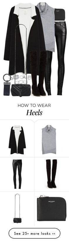 """Untitled #7130"" by nikka-phillips on Polyvore featuring Yves Saint Laurent, Brochu Walker, Lipsy, Zara, New Look and Mulberry"