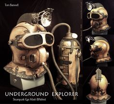 Steampunk & Plague Doctor Leather Masks --Loving that air tank...