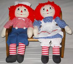 I have these HUGE Raggedy Ann and Andy dolls.