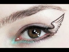 Simple Statement: Winged Eyeliner This person does really cool creative beauty looks!