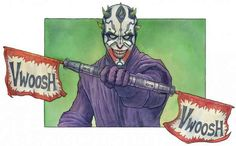 The mash-up of the Joker and Darth Maul by Justin LaRocca Hansen | The 30 Very Best Pieces Of Fan Art Of 2013