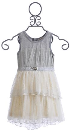 Baby Sara Silver Icing Dress for Little Girls