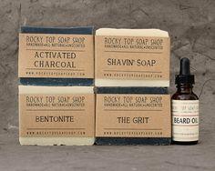 The Bearded Man Set  Natural Soap Handmade by RockyTopSoapShop, $38.00
