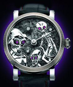 Kid Gets Grieb & Benzinger Area 51 Luxury Watch, With Aliens