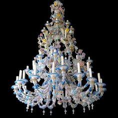Grand Lustre prestigieux de Murano, du XIXè siècle - Lustre ancien >> http://www.anticstore.com/lustre-1-SC