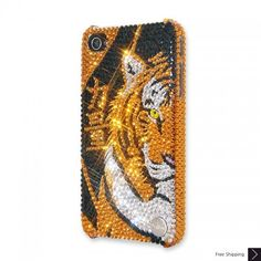Tiger Power Bling Swarovski Crystal iPhone 5 Case
