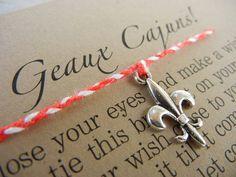 Ragin' Cajuns Inspired Wish Bracelet on Etsy, $7.00