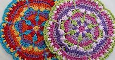 Yarn Stylecraft Classique Cotton DK yarn (3.5 oz/201yds/100g per skein): 1 skein each #3662 sunflower (A), #3673 Lavender (B), 3672 Poppy (...