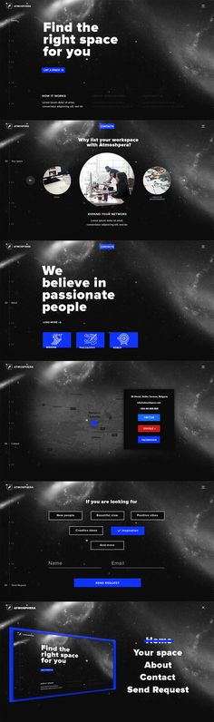 """Check out my @Behance project: """"Atmosphera - Landing page for co-working space"""" https://www.behance.net/gallery/51022617/Atmosphera-Landing-page-for-co-working-space"""