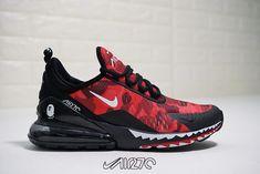 0715794be7 Bape A Bathing APE X Nike Air Max 270 Black University Red