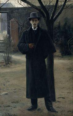 Portrait of Miquel Utrillo, Paris, 1889-1890. Oil on canvas by Santiago Rusiñol i Prats (Catalan, 1861-1931)