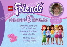 192 best party lego friends birthday images on pinterest lego printable lego friends birthday party invitation customized with your party details and personal photo diy filmwisefo
