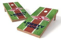 Liberty Flames Single Cornhole Board - Field