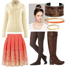 Love boots & sweaters!