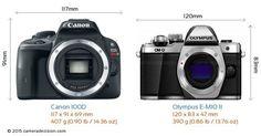 Canon 100D vs Olumpus OMD EM10