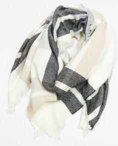 Echarpe plaid à carreaux blanc Echarpe Plaid, Carreaux Blancs, Bonnet  Echarpe, Rayures, 50f2df6c76a
