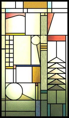 Frank Lloyd Wright stained glass #StainedGlassAbstract