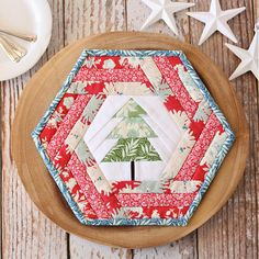 Hexie Holiday Placemat Pattern