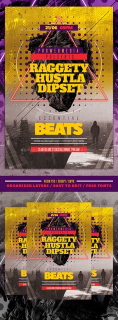 Abstract Minimal Party Flyer  Party Flyer Flyer Template And Minimal