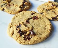 Here's an original copycat version of Lenny and Larry's popular complete protein chocolate chip cookie. It is vegan and has 16 grams of protein per cookie. Protein Chocolate Chip Cookies, Protein Powder Cookies, Baking With Protein Powder, Protein Powder Recipes, High Protein Recipes, Best Protein Bars, Healthy Protein Snacks, Healthy Cookies, Protein Foods
