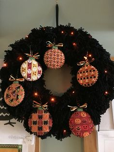 Needlepoint pumpkins, designer unknown from an exclusive club at stitch by stitch larchmont ny
