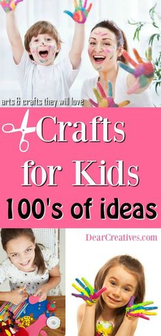 Fun, and easy kids crafts to make. Find so many ideas to for the kids to make. Crafts projects for all ages. Fun Projects For Kids, Easy Crafts For Kids, Easy Diy Crafts, Cute Crafts, Crafts To Make, Art For Kids, Craft Projects, Craft Ideas, Summer Diy