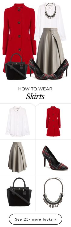 """""""How to wear this skirt?"""" by glamorous09 on Polyvore featuring Coast, H&M, Chicwish, Charles by Charles David and Topshop"""