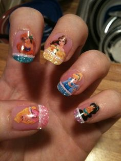 Disney Princess Nail Art Love This