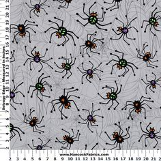 Use this creepy crawly fabric for your Halloween projects.