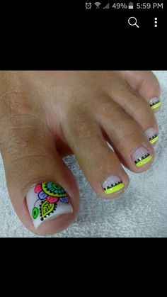 Cute Toe Nails, Toe Nail Art, Love Nails, Fun Nails, Summer Toe Nails, Diy Nail Designs, Pedicure Nails, Nail Decorations, Nail Polish Colors
