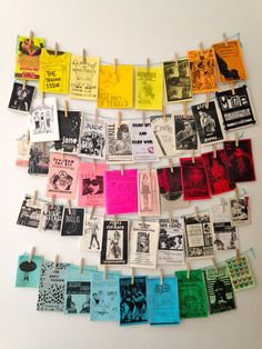 "tarynhipp: "" killyoursons: "" Hung my zines up in my new room today "" Lady Teeth…"