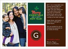 Family Letter Photo Christmas Card.